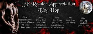 blog hop, JK, JK Publishing, Reader appreciation, readers, authors, prizes, gift cards