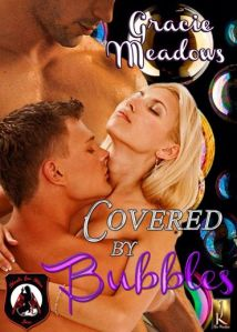covered by bubbles, heels for hire, gracie meadows, jk publishing, erotic romance, book